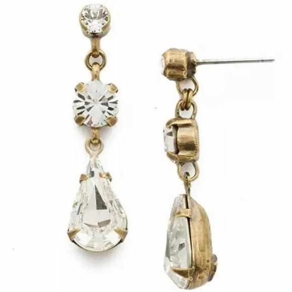 Sorrelli Jewelry - NWT SORRELLI Trio White earring crystal tiger lily